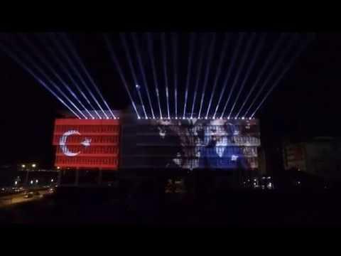 29 Ekim İzmir Büyük Şehir Belediyesi Işıklı Gösteri