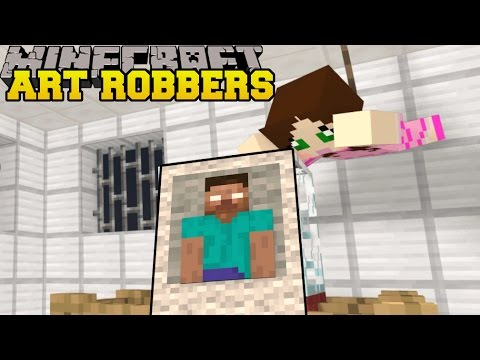 Thumbnail: Minecraft: ART ROBBERS (STEAL ALL THE ART!) Custom Map