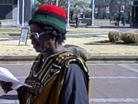 Fodali Mboge of the Black Autonomy Federation International Day Against Police Brutality