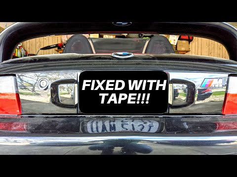 Fixing The Trunk Lid License Plate Trim On A Z3 M Roadster