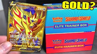 SEARCHING FOR GOLD POKEMON CARDS! Opening New Sword and Shield Elite Trainer Boxes