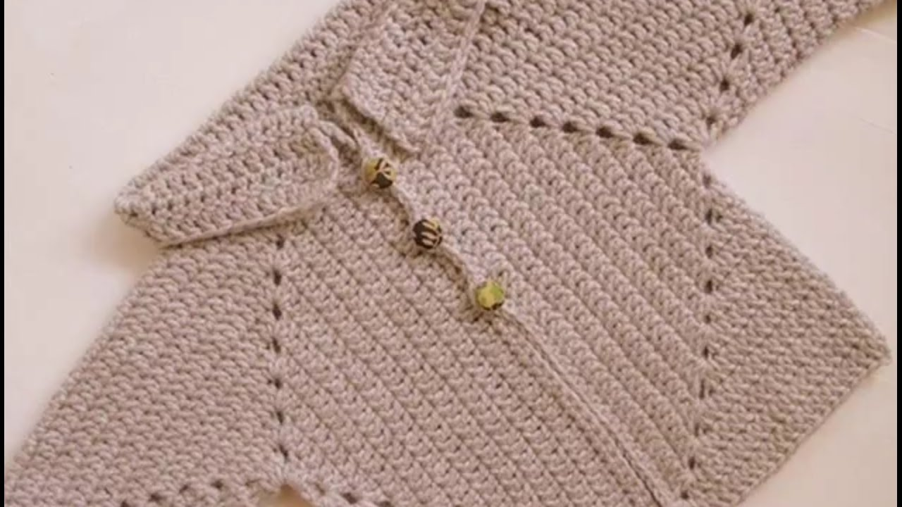 Knitting Jacket For Girl : New sweater design in hindi for kids knitting pattern