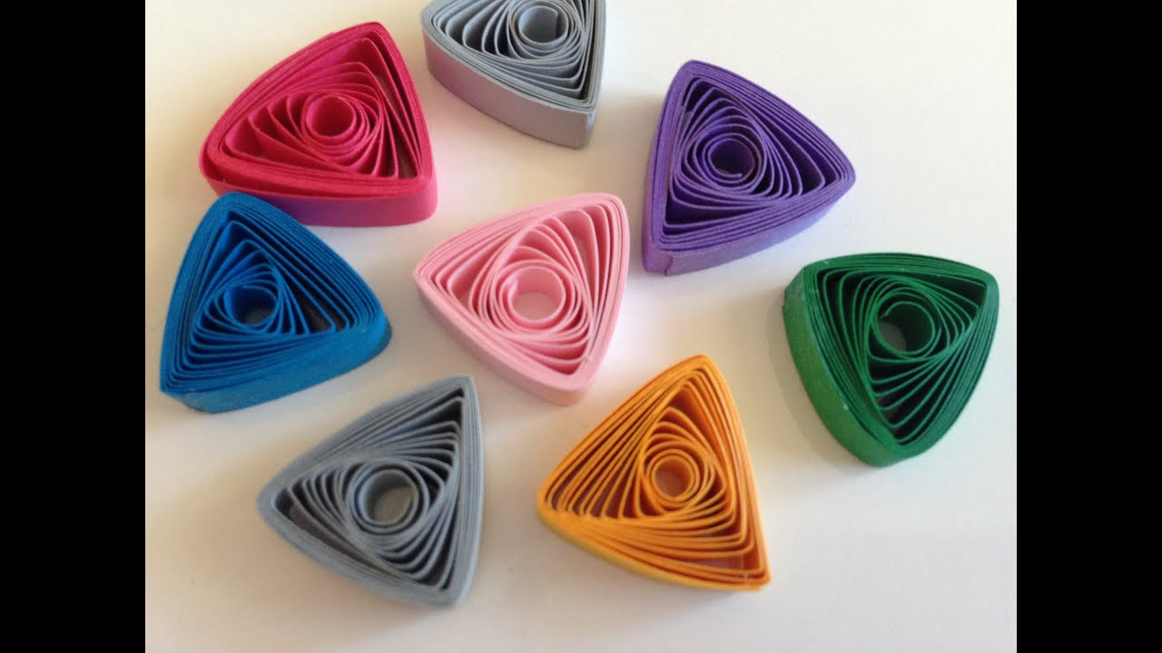 Quilling strips easy triangle using thin sweker - YouTube for How To Make Quilling Shapes  15lptgx