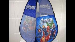Детская игровая палатка Avengers. Палатка домик для ребенка. Видео обзор.