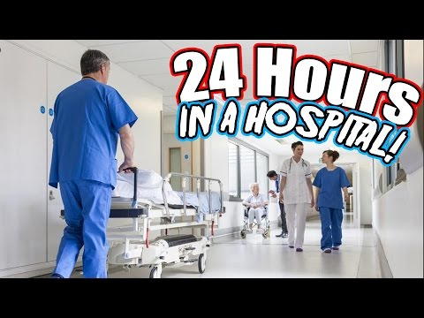 24 HOUR OVERNIGHT in a HOSPITAL FORT // 24 HOUR OVERNIGHT FORT CHALLENGE