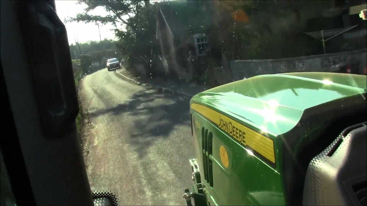 John Deere 6170r In Cab View On The Road Youtube