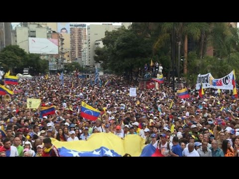 Anti-government protesters gather in Caracas against Maduro