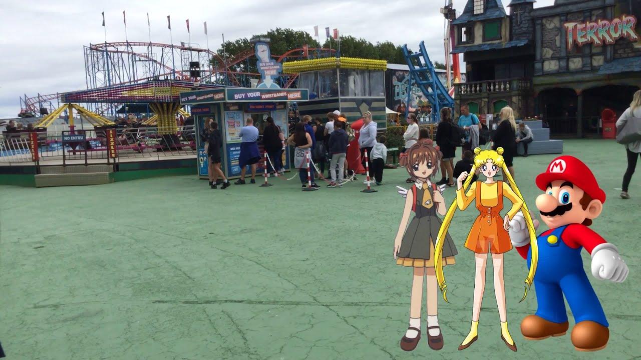 Location Trip: Usagi Tsukino with a Mario & Sakura Kinomoto goes to Brean Leisure Park