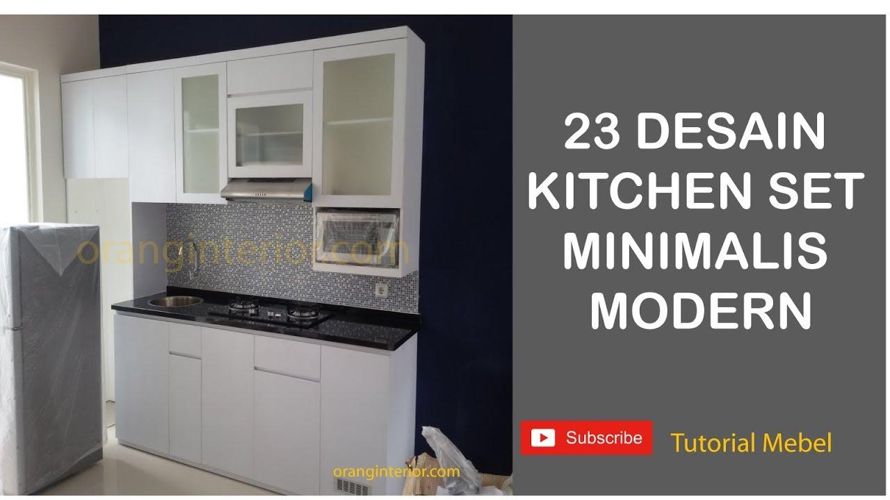 23 Desain Kitchen Set Minimalis Modern Multiplex Finishing Hpl Youtube