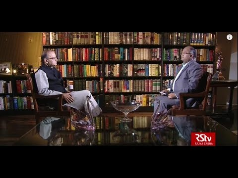 Rahul Mahajan, Editor-in-Chief of RSTV, in conversation with Finance Minister Arun Jaitley