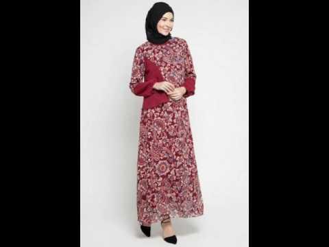 Model Baju Muslim Batik Modern Motif Terbaru 2017 Youtube