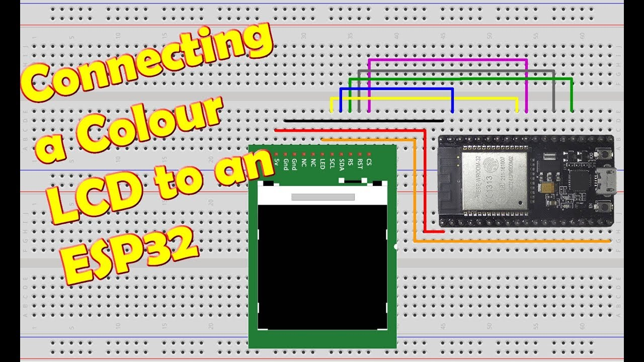 Connecting Colour LCD to ESP32 (SPI ST7735 driver), TFT, Display, NodeMCU 32