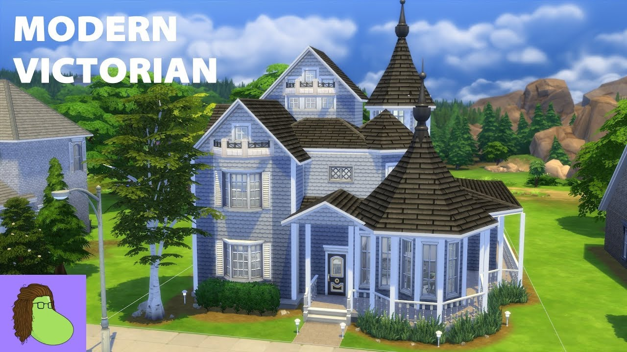 Building a Modern Victorian House | The Sims 4 - YouTube