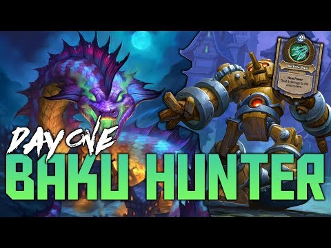 Baku Odd Hunter on Day 1 of the Witchwood | Hearthstone Expansion