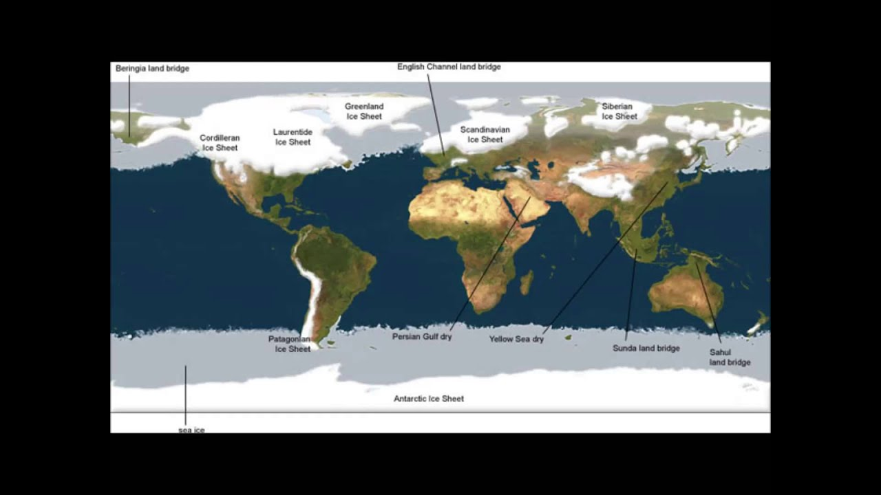 Mini Ice Age Episode Cooling Stages During A Year Long - Map of how last ice age affected us
