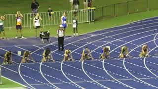 100m 13W Final Hilal Durmaz 12.28R Qld School Championships 2017 2017 Video