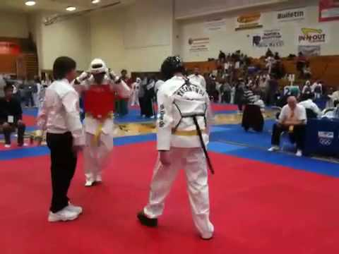Louis Correa (red): Overtime at Lai TKD Tournament...