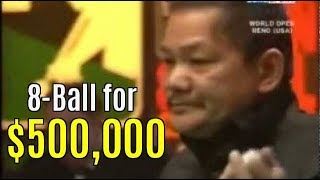 Reyes vs  Rodney Morris $500,000 8-ball. Newest upload!