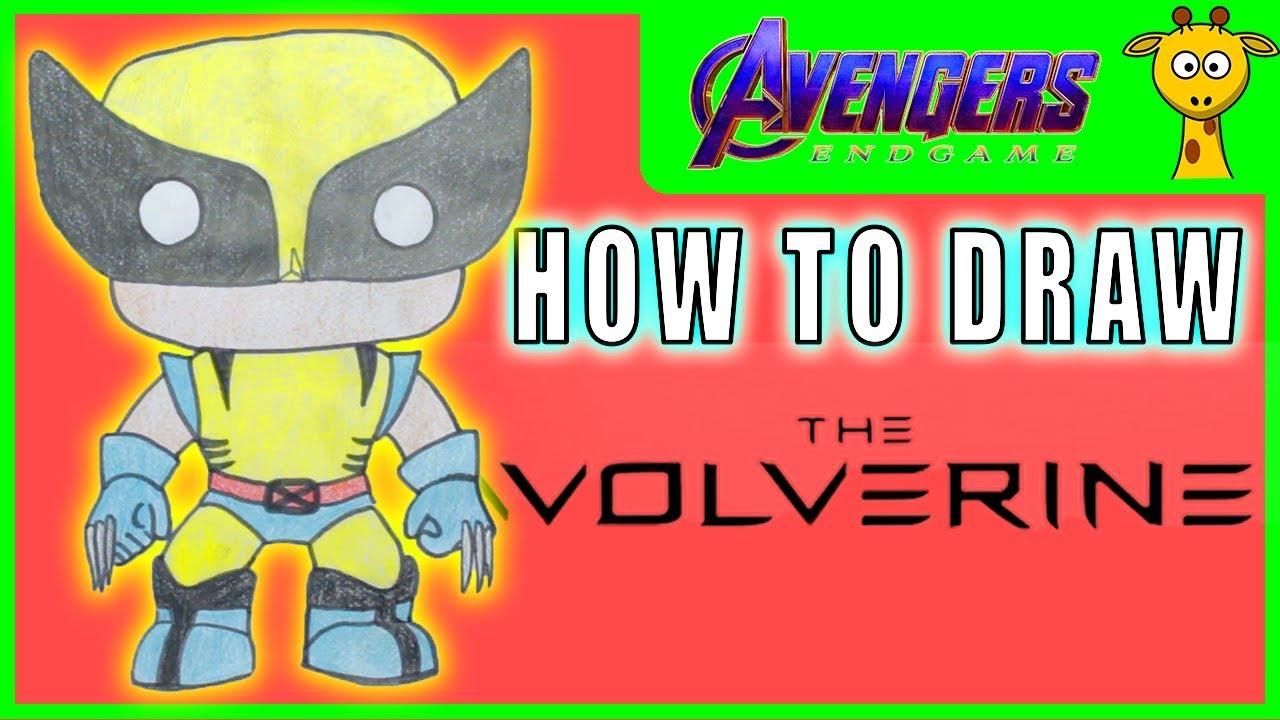 Wolverine Dessin Et Coloriage De Marvel Figurines Easy Funko Pop Youtube