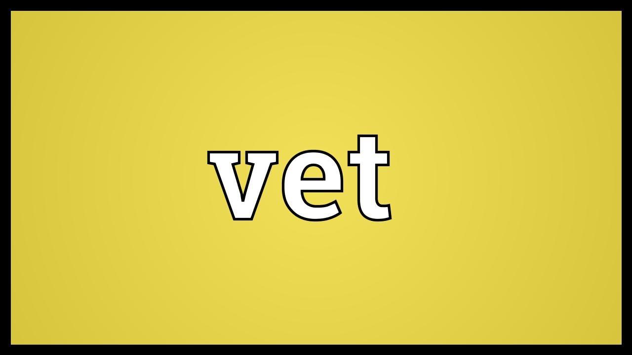 Vet Meaning