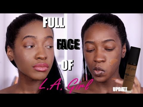Trying a FULL FACE of L.A. Girl Makeup