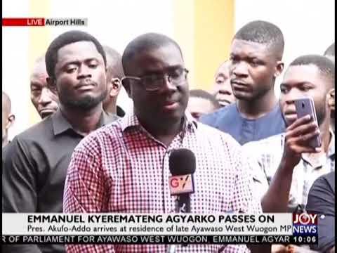 President Akufo-Addo Arrives At Residence Of Late Ayawaso West Wuogon MP - JoyNews (22-11-18)
