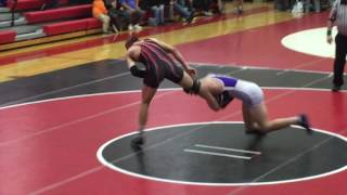 Wrestling highlights: Jake Koser vs. Elijah Jones