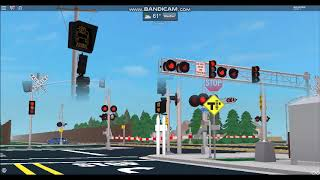 ROBLOX Railroad Crossing Railfanning at Honda