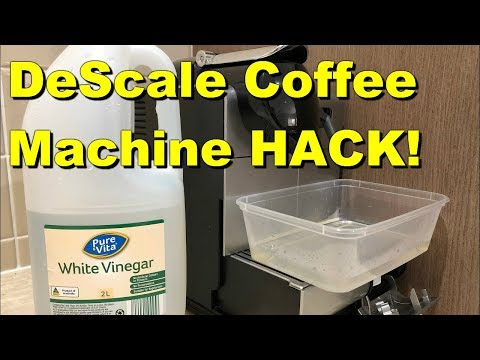 How to Clean Your Delonghi Nespresso Coffee Machine without Nespresso Solution! Vinegar
