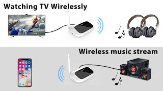 Bluetooth Transmitter and Receiver for TV Speaker - Avantree Oasis
