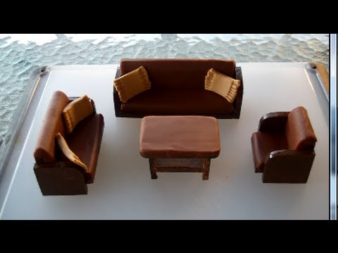 Making of a sofa set from Play Doh