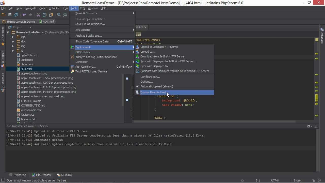 Deployment and Remote Hosts in PhpStorm - PhpStorm Video Tutorial