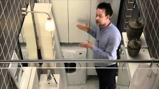 ΙΚΕΑ Έξυπνο μπάνιο με χώρο για πλύσιμο.