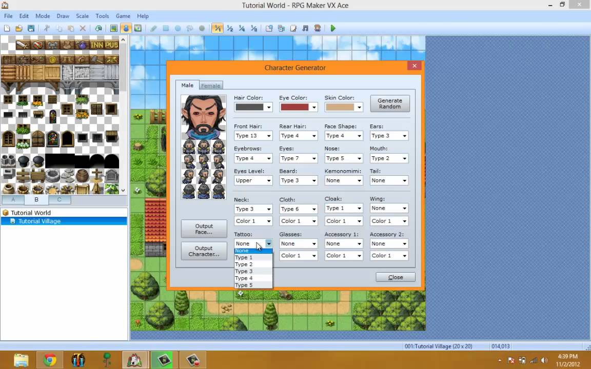 RPG Maker VX Ace Video Tutorial EP5: Character Generator Explained!