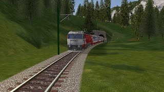Lets Play Open Rails Folge 6 Glacier Express Teil 1