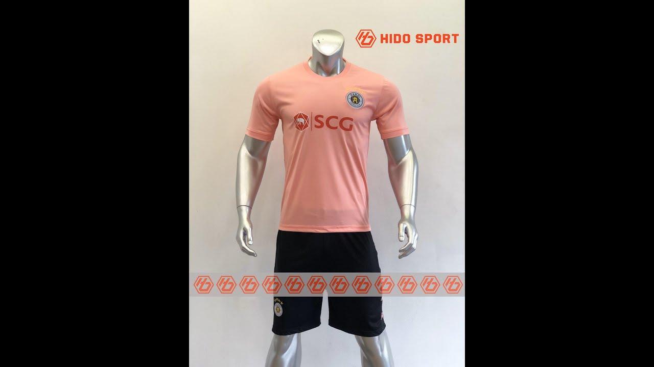 Quần áo bóng đá CLB HÀ NỘI màu HỒNG  đồ đá banh mới 2019-2020