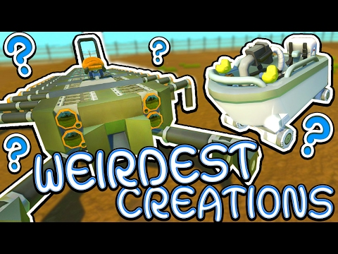 Scrap Mechanic CREATIONS! - WEIRDEST CREATIONS!! [#29] W/AshDubh | Gameplay |