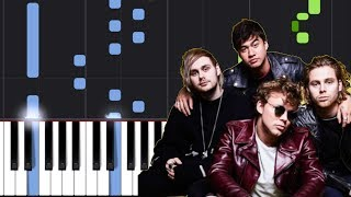 "5 Seconds Of Summer - ""If Wall Could Talk"" Piano Tutorial - Chords - How To Play - Cover"