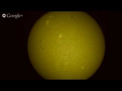 Live Solar Observing with a Hydrogen Alpha Telescope