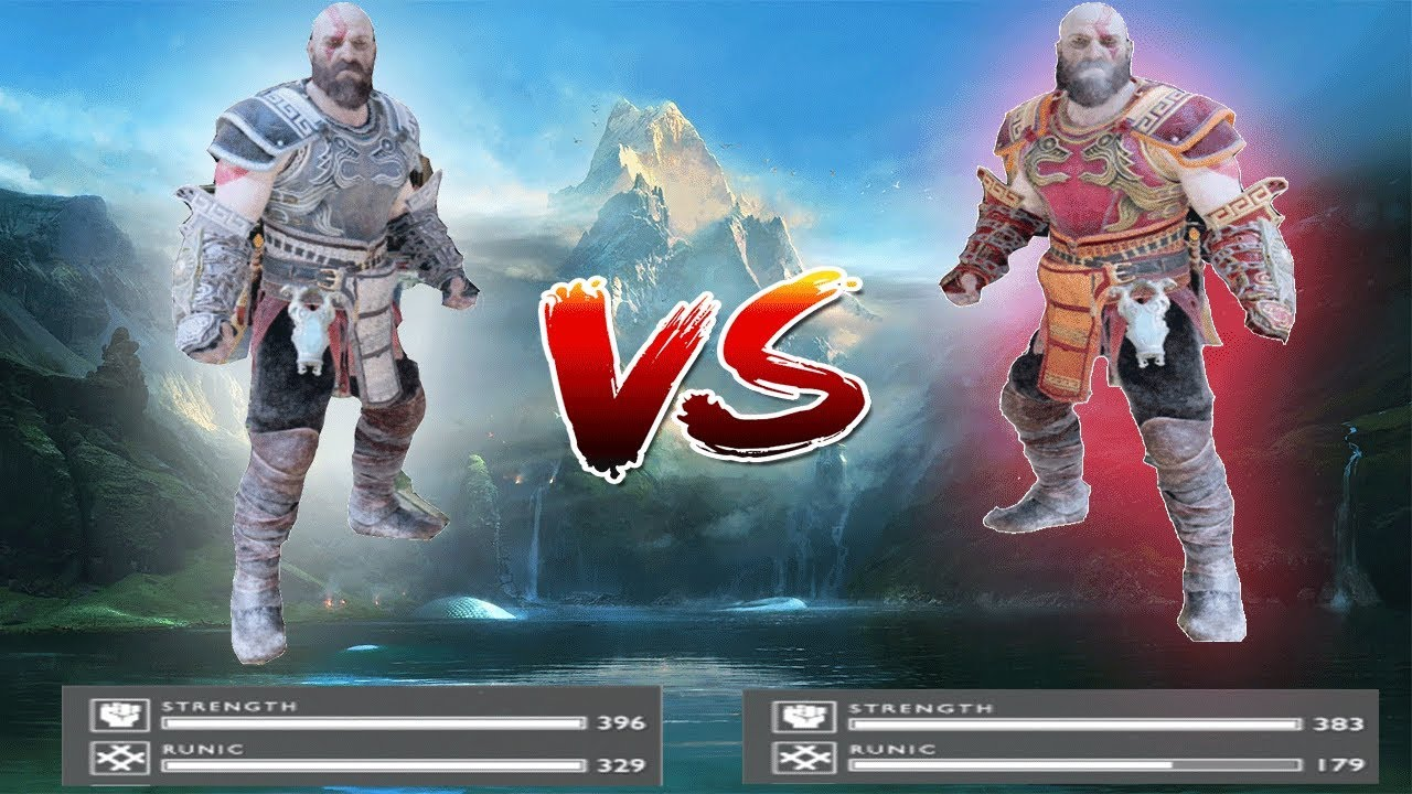 God Of War PS4 New Game Plus - King Of The Greek God Zeus Armor Vs Greek  God Ares Armor