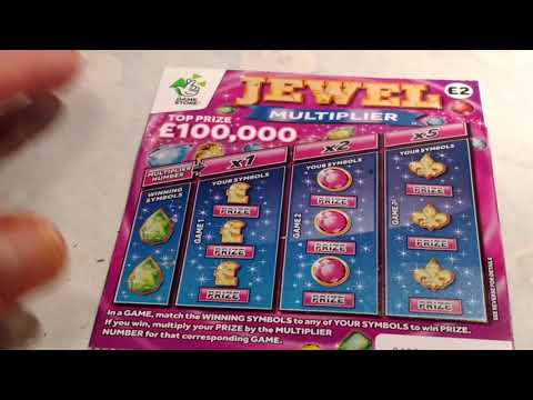 Wow!..Special...JEWEL MULTIPLIER...and  SIXTY Pounds worth SCRATCHCARDS