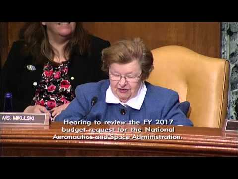 NASA FY17 Budget Request Review, Senate Appropriations Subcommittee, March 10, 2016