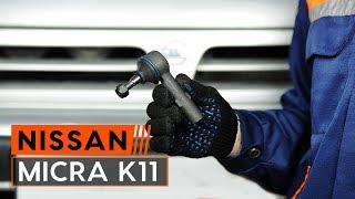 Как да сменим преден накрайник на напречната кормилна щанга наNISSAN MICRA 2 [ИНСТРУКЦИЯ AUTODOC]