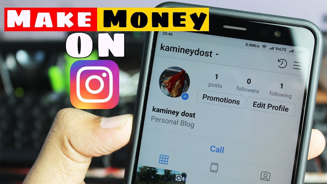 How to Make Money on Instagram 2018 [Hindi] 🤑
