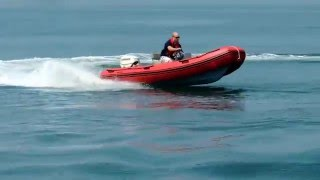 Defender 430 Chase Boat RIB with Evinrude E Tec 40hp