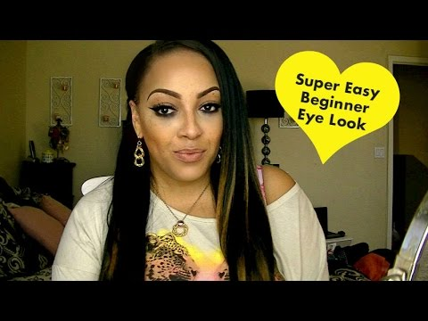 super easy raccoon eye beginner makeup look w/ benefit