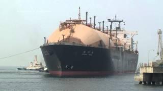 播州丸 LNG TANKER SHIP 堺泉北港出港
