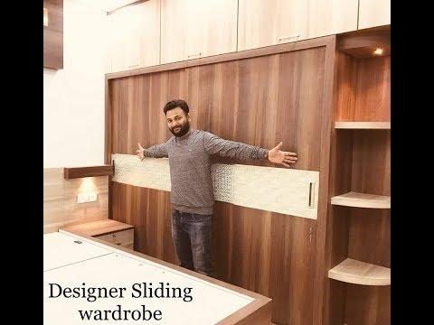 Sliding wardrobe Design video | Modular Wardrobe Design by Interior Jagat