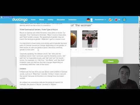 Duolingo German basics lesson 1 explained - ULTIMATE BEGINNERS!