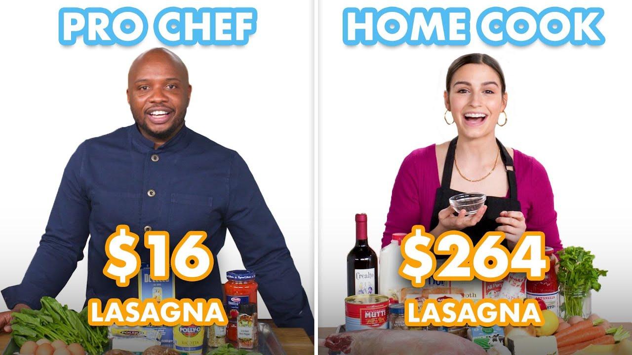 Download $264 vs $16 Lasagna: Pro Chef & Home Cook Swap Ingredients | Epicurious
